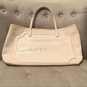 GIVENCHY: Cream Signature Parfums Tote